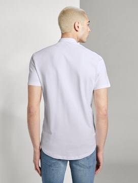 Basic short-sleeved shirt with a Mao collar - 2 - TOM TAILOR Denim