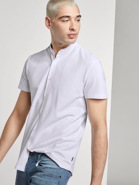 Basic short-sleeved shirt with a Mao collar - 5 - TOM TAILOR Denim