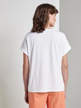 Gestreiftes T-Shirt im Material-Mix - 2 - TOM TAILOR