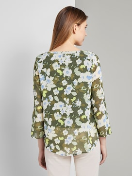 Long-sleeved Chiffon jersey shirt with a floral print - 2 - TOM TAILOR
