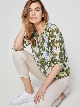 Long-sleeved Chiffon jersey shirt with a floral print - 5 - TOM TAILOR