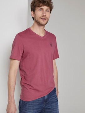 Basic T-shirt met V-hals - 5 - TOM TAILOR