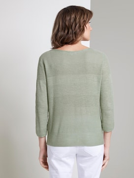 Striped linen-blend sweater - 2 - TOM TAILOR