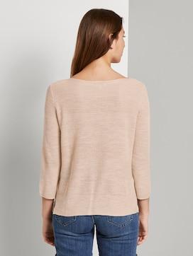 Pullover mit Streifenstruktur aus Leinengemisch - 2 - TOM TAILOR