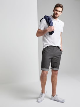 Gestructureerde Josh normale slanke Chino Shorts - 3 - TOM TAILOR