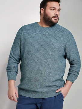 Structured knitted jumper - 5 - Men Plus