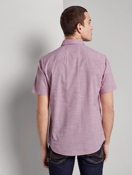 Finely textured short-sleeved shirt with a shark collar - 2 - TOM TAILOR