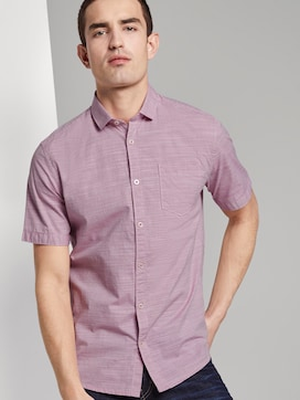 Finely textured short-sleeved shirt with a shark collar - 5 - TOM TAILOR