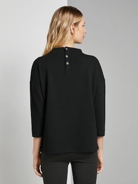 Sweatshirt with textured fabric - 2 - TOM TAILOR