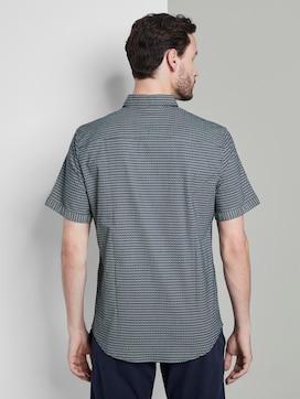 Gemustertes Kurzarmhemd mit Brusttasche - 2 - TOM TAILOR