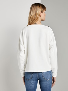 Sweatshirt met knoopjes - 2 - TOM TAILOR Denim