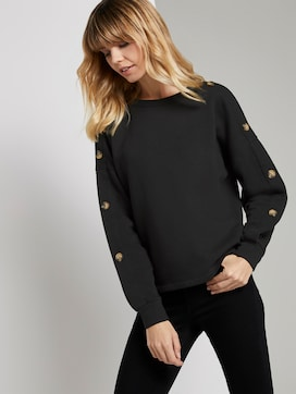 Sweatshirt met knoopjes - 5 - TOM TAILOR Denim