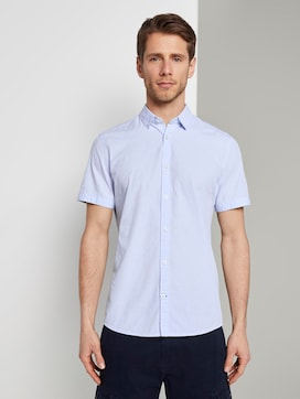 Short-sleeved shirt with a textured pattern - 2 - TOM TAILOR