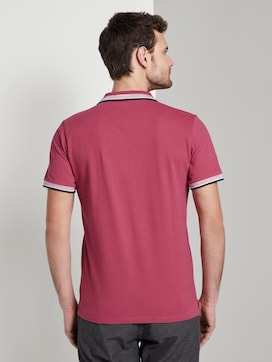 Polo shirt met contrasterende bies - 2 - TOM TAILOR