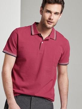 Polo shirt met contrasterende bies - 5 - TOM TAILOR