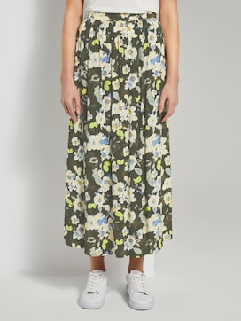 Flowing maxi skirt with a floral print - 1 - TOM TAILOR