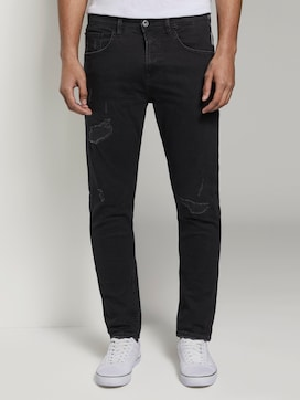Tapered Conroy Stretch Jeans mit Destroys - 1 - TOM TAILOR Denim