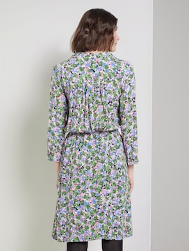 Printed dress with a lapel collar - 2 - TOM TAILOR