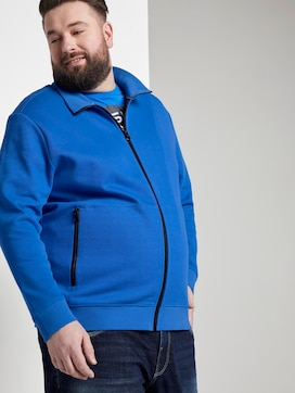 Sweatjacke mit Stehkragen - 5 - Men Plus