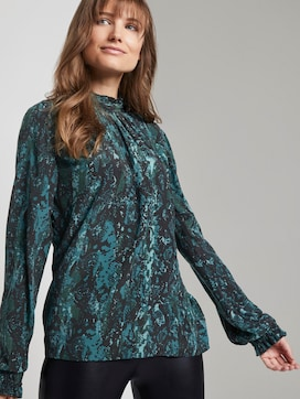 Blouse with a snake print - 5 - TOM TAILOR Denim