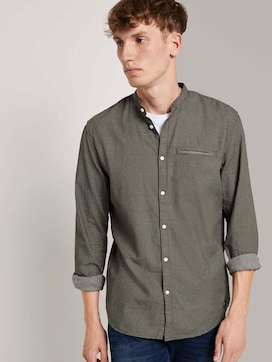 Finely patterned shirt with a stand-up collar - 5 - TOM TAILOR Denim