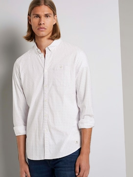 Patterned shirt with stretch content - 5 - TOM TAILOR Denim