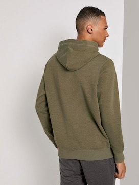 Hoodie with a small chest print - 2 - TOM TAILOR Denim