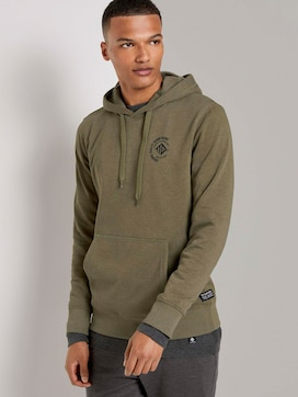 Hoodie with a small chest print - 5 - TOM TAILOR Denim
