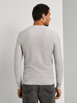 Pullover with a striped pattern - 2 - TOM TAILOR