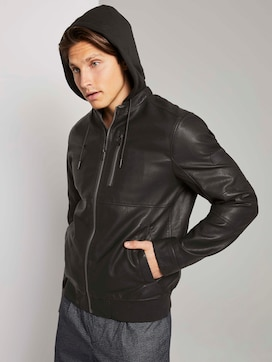 Jacket with detachable faux leather hood - 5 - TOM TAILOR Denim