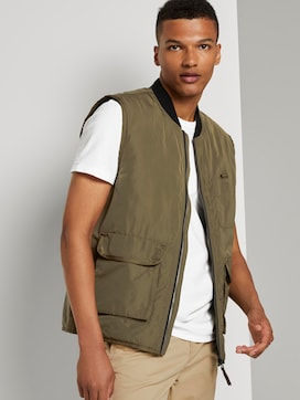 Utility vest with a bomber collar - 5 - TOM TAILOR Denim