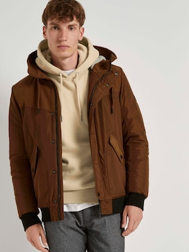 Bomber jacket with a lined hood - 5 - TOM TAILOR Denim