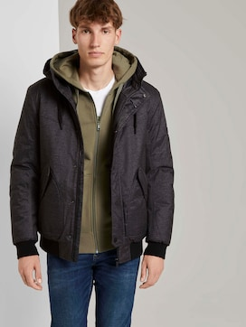 Bomberjack met gevoerde hoodie - 5 - TOM TAILOR Denim