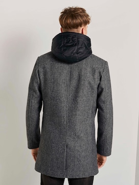 Wool coat with a detachable hood insert - 2 - TOM TAILOR Denim