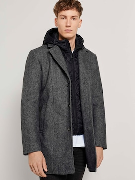 Wool coat with a detachable hood insert - 5 - TOM TAILOR Denim