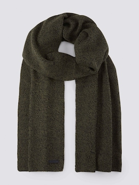 Knitted scarf in a melange look - 7 - TOM TAILOR