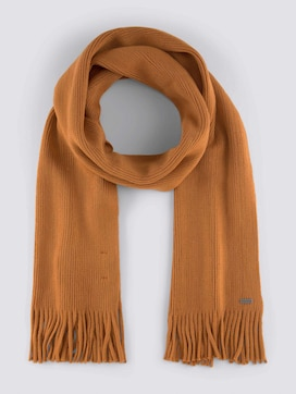 Ribbed scarf with fringes - 7 - TOM TAILOR