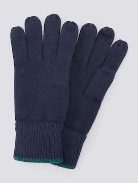 Handschuhe mit Logo-Badge - 7 - TOM TAILOR
