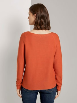 Textured pullover with raglan sleeves - 2 - TOM TAILOR Denim