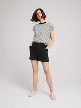 Paperbag Shorts mit Leinen - 3 - TOM TAILOR Denim