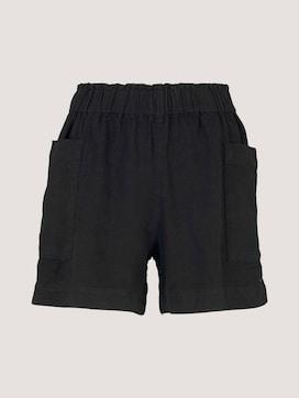 Paperbag Shorts mit Leinen - 7 - TOM TAILOR Denim