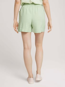 Paperbag Shorts mit Leinen - 2 - TOM TAILOR Denim