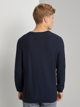 Textured knitted sweater - 2 - TOM TAILOR Denim