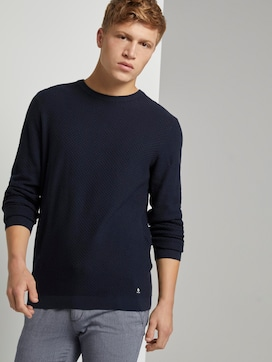 Textured knitted sweater - 5 - TOM TAILOR Denim
