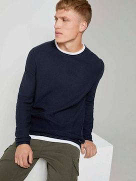 Basic pullover with an underlayer - 5 - TOM TAILOR Denim