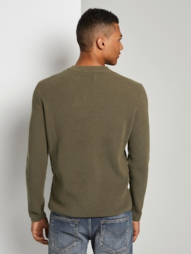 Knitted pullover with a chest pocket - 2 - TOM TAILOR Denim