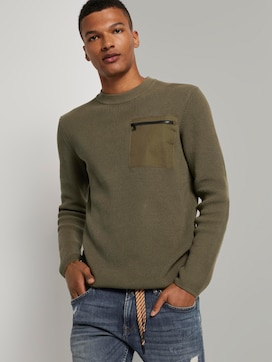 Knitted pullover with a chest pocket - 5 - TOM TAILOR Denim