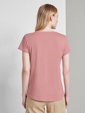 Basic T-shirt met print op de borst - 2 - TOM TAILOR Denim