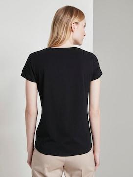 Basic T-Shirt mit Brustprint - 2 - TOM TAILOR Denim
