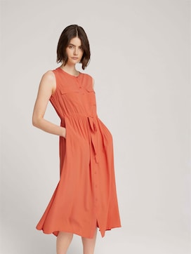 Sleeveless utility midi dress - 5 - TOM TAILOR Denim